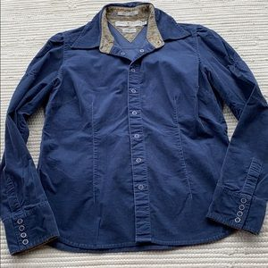 Tommy Hilfiger Corduroy Button Down Shirt Blue L
